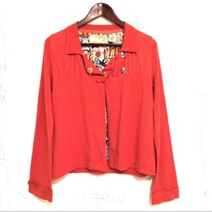Sparrow Anthropologie Coral Cardigan Size S
